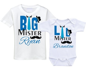 Matching Big brother little brother shirt set big bro lil bro sibling shirts set brother shirts matching brother outfits sibling sets