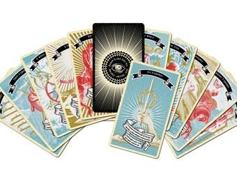 Madam Clara Sees All! Indie Fortune Teller Tarot Card Deck Includes Velvet Pouch - great beginner's deck!