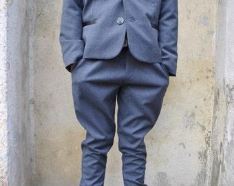 Single breasted boys jacket/Boys blazer jacket/Boys school blazer/Toddler boys wool jacket/Kids blazers jackets/Kids wool blazer