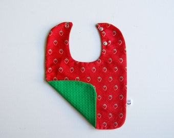 bib strawberry two positions clip