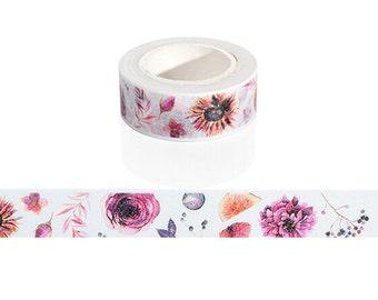 Floral Washi Tape / Cute Washi Tape / Kawaii Washi Tape / Cute Masking Tape / Flower Washi Tape / 10M Washi Tape / Floral Masking Tape