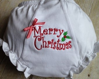 Adorable Merry Christmas Diaper Cover/Bloomer