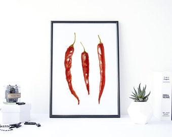 Chili Pepper Kitchen Etsy