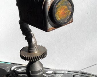 Mailbox in light - industrial style - table lamp - office - pipes - industrial style - table or desk lamp - pipes