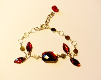 Crimson Fairy silver Bracelet