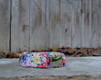 Floral Dog Collar, Flower Dog Collar, Pink, Yellow, White,  Blue, Female Dog Collar, Girl Dog Collar, Colorful Floral Dog Collar, Wedding