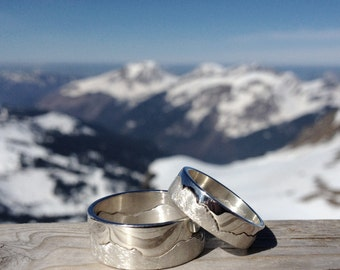Handmade Silver Mountain Landscape Ring