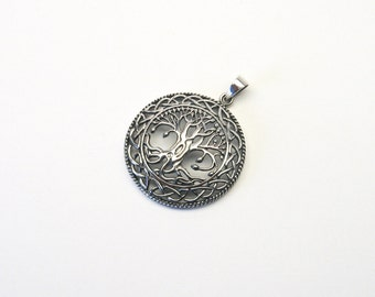 Great life tree 925 Silver tree of life pendant