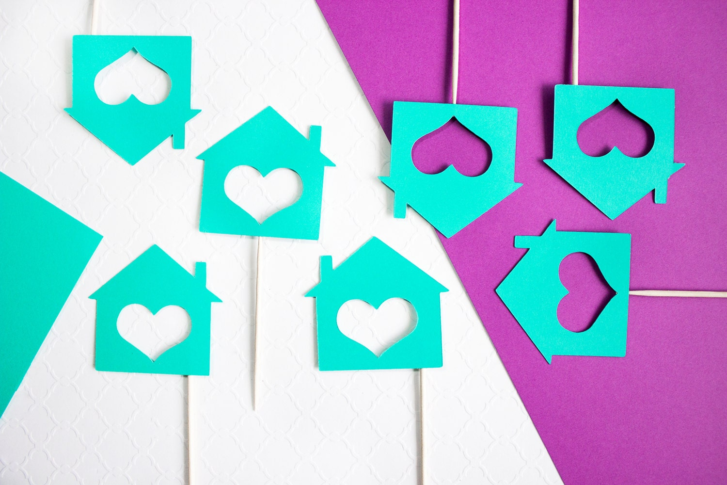12 housewarming cupcake toppers new home housewarming for New home cupcake decorations