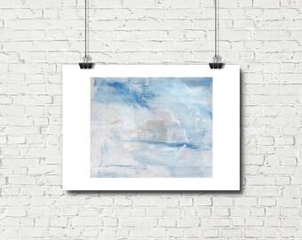 Printable Art, Digital Prints, Blue Abstract Art, Downloadable Art, Abstract Artwork, Sky Painting, Wall Decor, Bedroom Wall Art, Blue Art