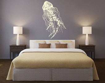 rta582  Jellyfish Deep Ocean Water Beatuful bathroom Dorm Interior Bedroom Gift Wall Decal Vinyl Decor Sticker Art Decor Bedroom Office