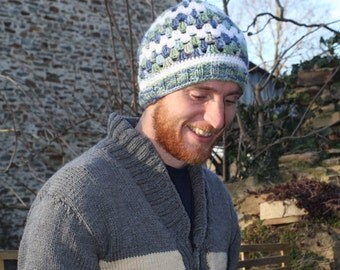 Men's Beanie Knit and Crochet- Granny Stitch