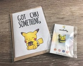 Pin & Card Combo| Enamel Burger Pokemon Gift Badge Pikachu lapel Pin Cute Brooch Birthday Squirtle Metal Nickel Brooches Jewelry Pins