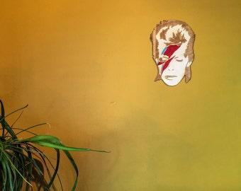 David Bowie Wall Art, Wooden Aladdin Sane Lightning Bolt Home Decoration