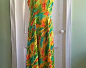 REDUCED!* Psychedelic 60s / 1960s vintage Ceeb of Miami maxi dress