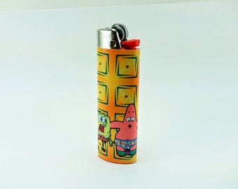 Patrick's pants fell off! Spongebob Squarepants is in Shock! - Custom Lighter