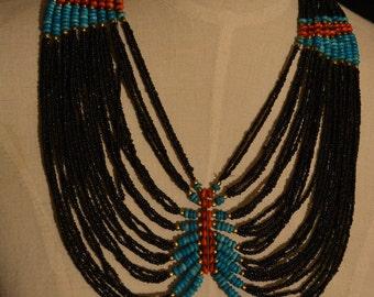Himalayan multi strand beaded necklace