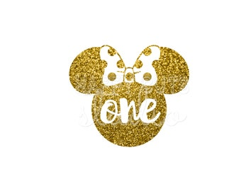 Minnie Mouse Personalized Age Disney Birthday Party Girl Personalized Girly Girl Iron On Decal Glitter Disney Iron Vinyl Decal for shirt