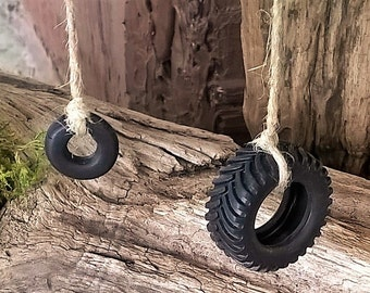 Fairy Tire Swing, Fairy gardens, miniatures, Faeries, dollhouse, Fairy House