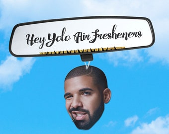 Drake Air Freshener - Drake Car Freshener - Car Accessory - Hip Hop Heads