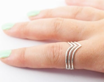 adjustable silver chevron ring, silver chevron ring, silver arrow ring, adjustable ring, chevron ring, silver chevron ring, v ring, arrow
