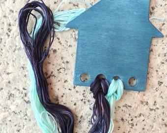 Blue House thread keeper - Portafili casetta blu
