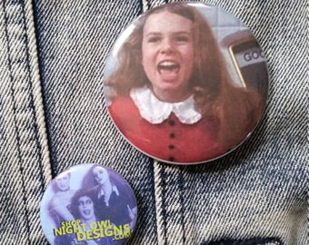 Veruca Salt Willy Wonka and the Chocolate Factory handmade 2-1/4 inch pinback button pin pins buttons pingame badge badges