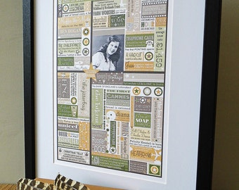 Personalised 'Year You Were Born' Print.  18th 21st 30th 40th 50th 60th 70th