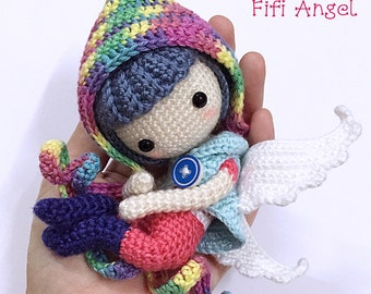 Crochet Doll Pattern - Angel Fifi 菲菲