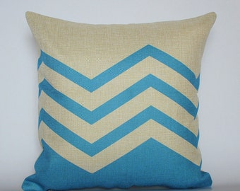 Blue Pillow Covers, Geometric Pillow covers, Cushion Covers, Decorative Pillow Cases, Home decor Throw Pillows, Living Room Decor Pillows