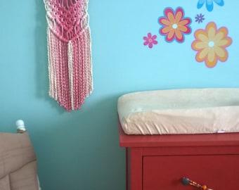 """12"""" Pink Fade Wall Hanging"""