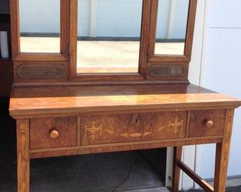 1920's Vintage Wood Vanity - Luce Furniture