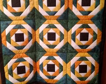 Wall Hanging, Green, yellow, white