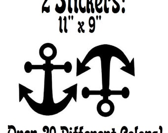 """Anchors Away - Two 11"""" by 9"""" Wall Decal Stickers"""