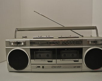 Vintage Boombox 80s Sharp GF 450 includes original power cord