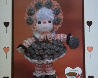 Lollipop Lane Oatmeal Cookie Vintage Crochet Doll Pattern