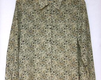 Vintage 1990's Patterned Blouse/Shirt