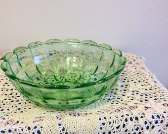 Vintage Light Green Glass Bowl