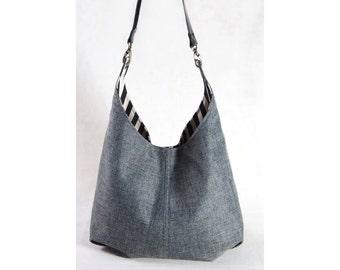 Shoulder bag, Hobo bag with leather strap