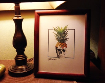 Pineapple Skull Print Download (4 sizes)