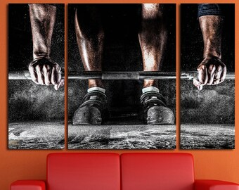 Fitness Motivation Workout Crossfit Gym Decor Wall Art