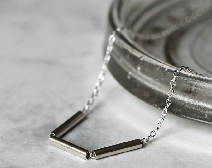 Triple Bar Necklace - Sterling Silver