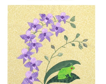 Orchid Oasis Applique quilt pattern