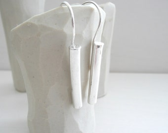 Cylinder Earrings Sterling Silver