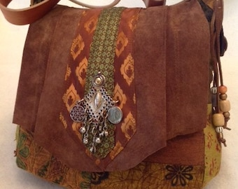 Fabulous Handmade Fabric Bohemian Shoulder Bag