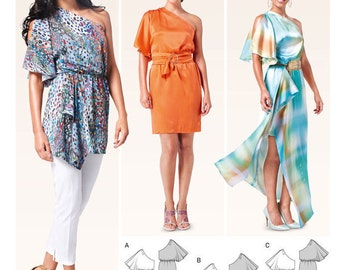 Summer Dress and Tops - Burda 6780 Pattern- Beach Cover-Up - New uncut pattern - US Sizes: 8 - 10 -12 - 14 - 16 -18