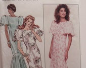 Designer Dress Pattern, Uncut 1980s Butterick 5659 Misses Dress in sizes 14, 16 and 18 and in 3 variations