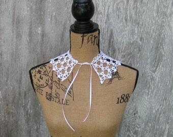 Delicate White Collar, Crochet, Lovely Detail, Fine Crochet Work, Handmade,