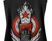 Bucky Barnes Tank Top Pre-Order - He's a Ghost Story Tank Top - Winter Soldier Tank Top