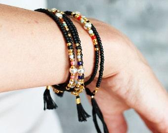 Beaded Bracelet Beaded Friendship Bracelet Seed Bead Tassel Bracelet Beaded Delicate Bracelet Beaded Jewelry